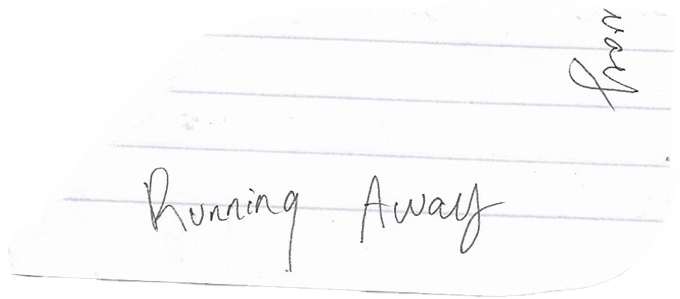 Running Away lyrics title